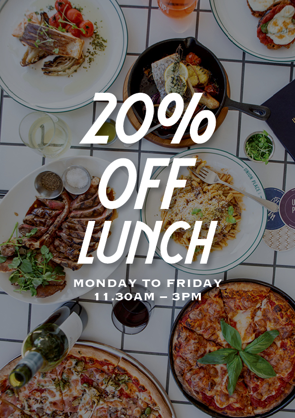 20% Off Lunch Special - Union Place Hotel
