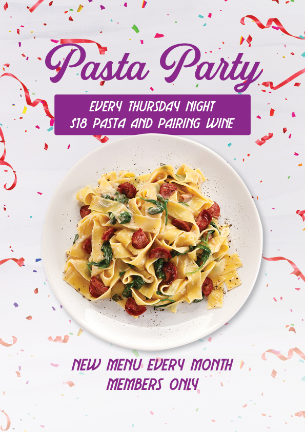 Members Only Pasta Special - Union Place Hotel