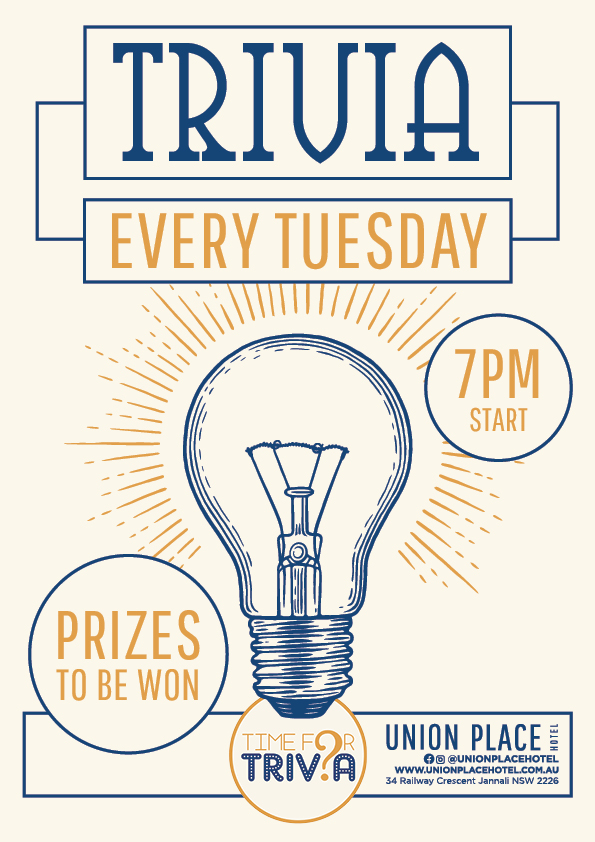 Weekly Trivia Night - Union Place Hotel