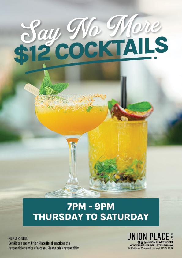 $12 Cocktails Thurs-Sat - Union Place Hotel