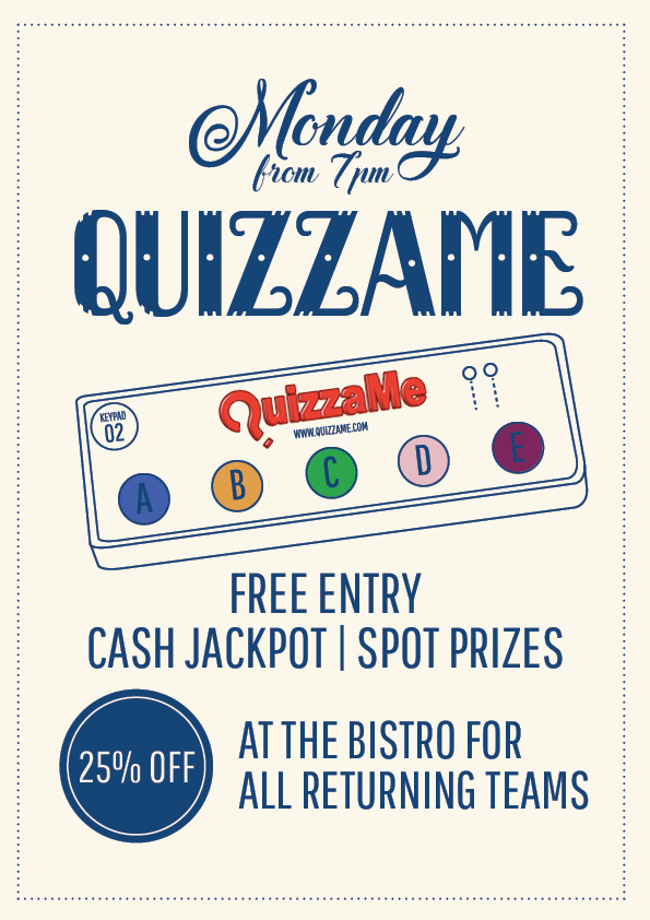 Monday Quizzame Trivia Night - Union Place Hotel