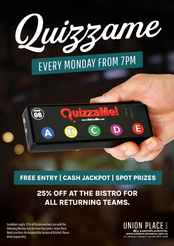 Quizzame Weekly Trivia Night - Union Place Hotel