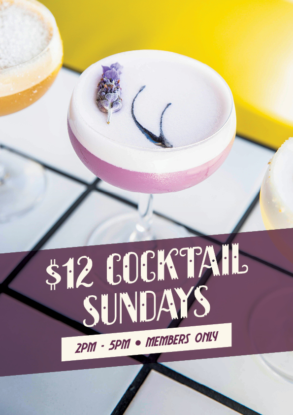 $12 Cocktail Sunday Special - Union Place Hotel