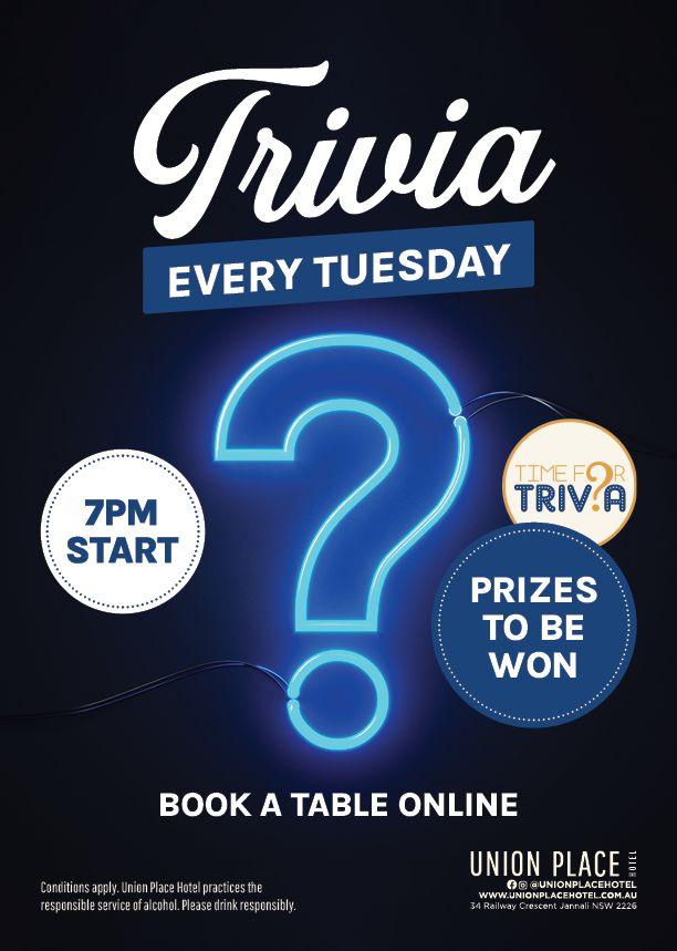 Tuesday Trivia Night - Union Place Hotel