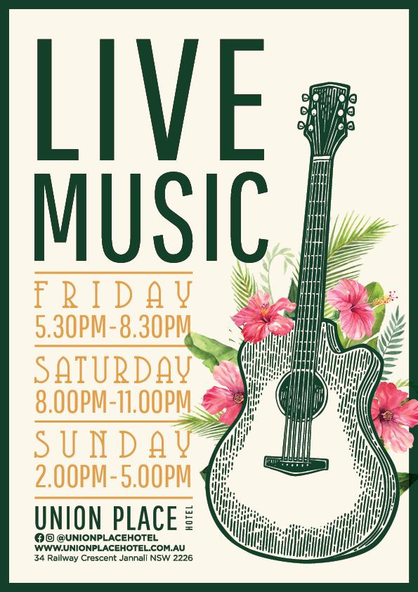 Live Music Saturdays   Union Place Hotel
