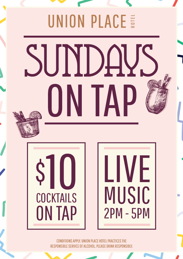Sundays On Tap - Drink Special | Union Place Hotel