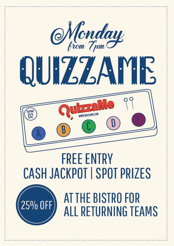 Monday Quizzame Promotion | Union Place Hotel