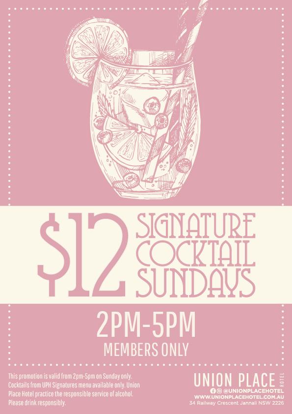 Members $12 Signature Sundays | Union Place Hotel