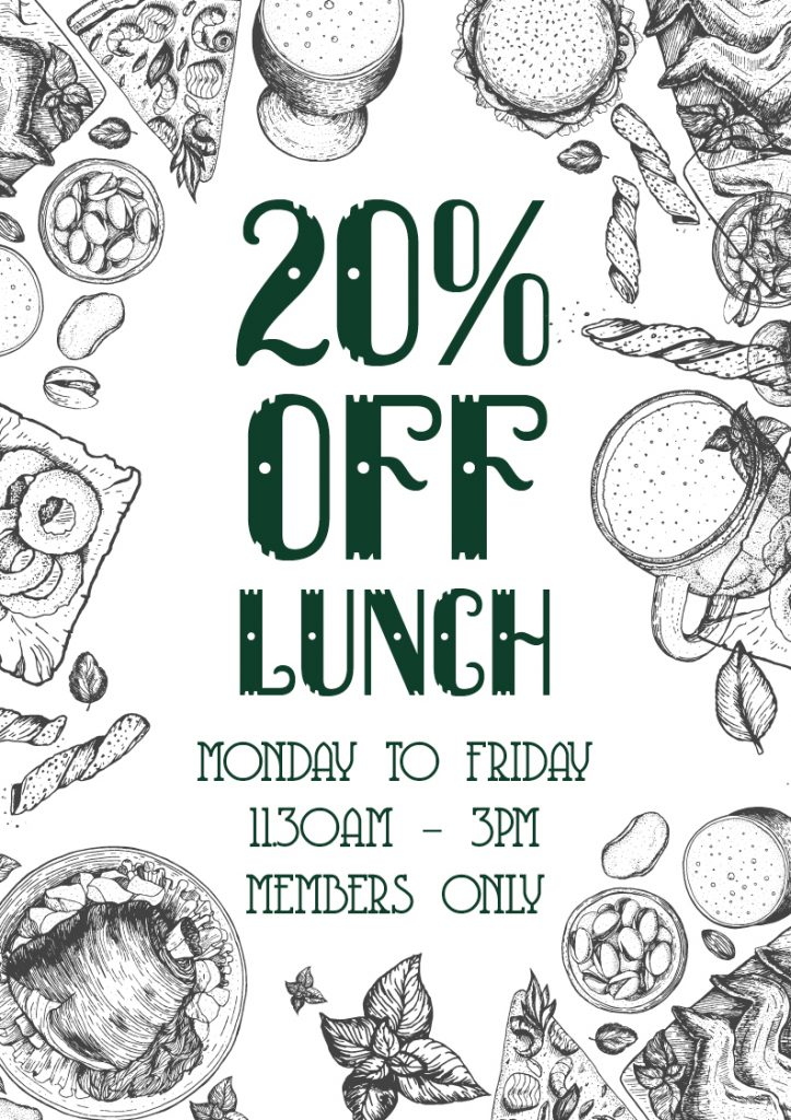 Members Only 20% Off Lunch Special | Union Place Hotel