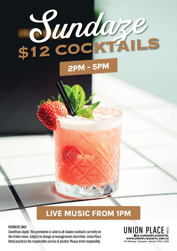 Sunday Cocktail Special - Union Place Hotel